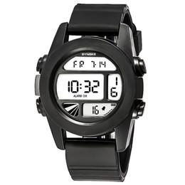 Пластиковые часы мужские онлайн-watch couple Men Women Multi-Function 50M Waterproof LED Digital Double Action Watch high-quality PU plastic strap Five Color