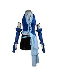 Cosplay fantasia final on-line-Fato Cosplay Uniforme Yuna Final Fantasy 10ª