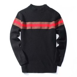 полосатый пуловерный крючком Скидка 2018 марка теплая мода тонкие мужские пуловеры свитера повседневная вязаная вязаная полосатая вязаная кофта мужская одежда из джерси masculino 3303 #