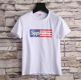 Wholesale Mens Golf Xl - New 2017 Mens Summer Tees Plus Size Striped alphabet Short Sleeve T Shirt Milk Printed Cotton T-shirt 3D Designer Clothing M-XXL Golf Tshirt