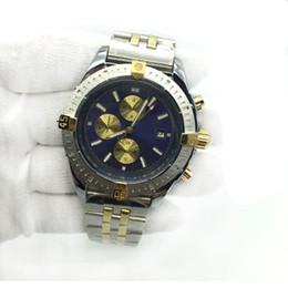 Oval relógios homens on-line-Venda quente Mens Watch 1884 Azul Dial Mecânica Automática de Dois Tons de Aço Inoxidável Clássico Dos Homens Relógios Relógios De Pulso Masculinos frete grátis