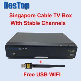 Wholesale Dvb C Box - FREESAT SINGAPORE TV BOX V9 PRO starhub blackbox receiver from v8 golden USB WIFI all HD CHANNELS