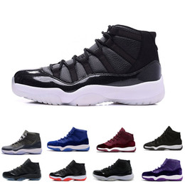 Wholesale womens navy blue boots - Wholesale 11 Prom Night Gym Red Midnight Navy Black Stingray Bred Concord Space Jam Shoes 11s Mens Womens Kids Basketball Sneaker