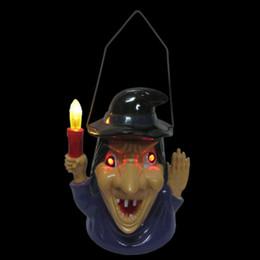 2019 хэллоуин ярдов огни Shouting Witch Lamp Night Light Halloween Supplies Yard Party Prop Plastic дешево хэллоуин ярдов огни