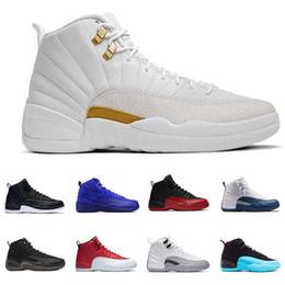 save off adcc3 450c3 ... Nike Air Jordan 12 Retro Scarpe da pallacanestro The Master bianco nero  Gamma French Blue Gym Red Flu gioco Sport Sneakers Athletic Trainers US 8-13  ...