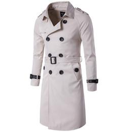 55e858c489 JZ CHIEF 2018 Fashion Trench Coat Men Double Breasted Trench Jacket Long  Waterproof Windbreaker With Belt Slim Outwear Overcoat