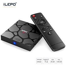 Wholesale Cheap Tv Boxes - Cheap S905X Android TV Box M96X Mini Quad Core Android 7.1 Box 2GB 16GB KD18.0 Fully Loaded 4k Smart TV Box