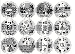 Wholesale Nails Film - Wholesale 10 pcs lot Manicure printing template nail stamping plates DIY blue film nail printing stamping stencil