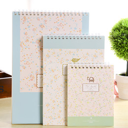 Wholesale Diary Book Flower - Sweet lemon rural wind flower this cute little animal diary coil creative notepad note book