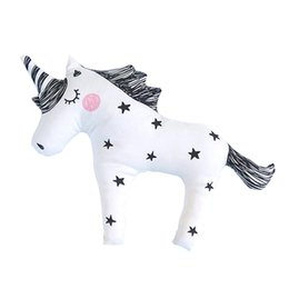 Wholesale Plush Horns - Cute Plush Unicorn Horn Sleep Pillow Stuffed Animal Gerbil Plush Toy Unicorn Boy Girl Gift Four Colors