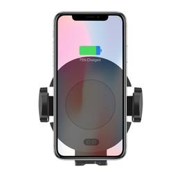 2019 telefonhalterung halter Schneller drahtloser Auto-Ladegerät-automatischer Sensor-Auto-Berg-Luft-Entlüftungs-Telefon-Halter-Aufnahme für iPhone X 8 Samsung S9 S8 rabatt telefonhalterung halter