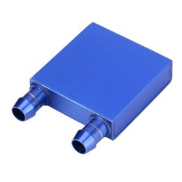 Wholesale Water Cpu - Aluminum Water Cooling Block Liquid 41 x 41 x 12mm Water Cooler Heat Sink for CPU Industry Radiator