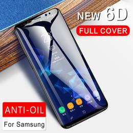 2019 galaxia s6 borde más templado completo Cristal templado 9H para Samsung Galaxy S8 S9 más S6 S7 borde de cristal nota 8 9 Protector de pantalla 6D Película para Samsung cubierta completa de cristal galaxia s6 borde más templado completo baratos