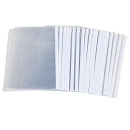 folder papers Promo Codes - SCLL Hot White Clear Size A5 Paper Slider Zip Closure Folders Files Bags 20 Pcs