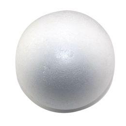 Bolas redondas blancas naturales de la espuma de poliestireno de los 9cm bola hecha a mano hecha a mano de la bola de la espuma de la bola del arte (24pcs / lot) desde fabricantes