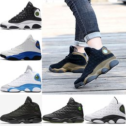 Wholesale Games Designers - 2018 Mens Designer 13 13s Basketball shoes bred flints grey toe He Got Game hologram barons sports shoes sneaker quality eur 41-47