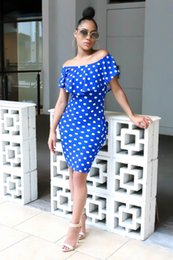b8b225f94c Amazon quick sale ebay hot seller European and American fashion wave point  off-the-shoulder dress foreign trade dress