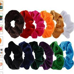 Wholesale Girls Hair Scrunchies - Women Velvet Hair Scrunchies Elastic Spring Hair Bands Ties Ponytail Holder Hair Accessories Women Girls Head Bands
