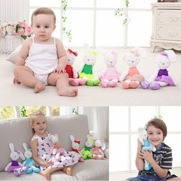 Wholesale teddy colors - 7 Colors 42cm Mamas Papas Plush Doll Cute Rabbit Stuffed Doll Cartoon Bunny Teddy Bear Plush Baby Toys For Baby Kids Gifts AAA434