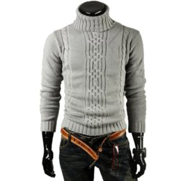 422c2a1d66e4 2019 drehen sie den kragen pullover Laamei Male Sweater Pullover solide  Turn-Down-Kragen