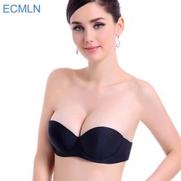 Wholesale Magic Wedding Dresses - Women Magic Push Up Bra Strapless Women's Bras Underwired 1 2 Cup Back Band Dress Wedding backless invisible Bras G#