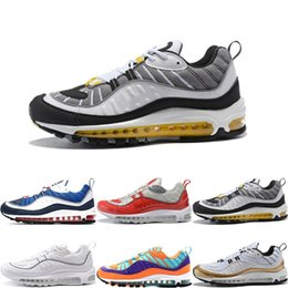 Wholesale colourful men - Top Quality 98 QS Colourful Running Shoes Mens OG 98S Gundam Cushion Brand Designer Trainer Casual Sports Athletic Sneakers Jogging