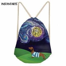 340dd03e7c bags for girls childrens UK - INSTANTARTS Sport Bag Women Men Starry Night  Dachshund Printing Outdoor