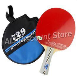 Wholesale table tennis friendship 729 - Wholesale- RITC 729 Friendship 2010# Pips-In Table Tennis Racket with Case for PingPong Shakehand long handle FL
