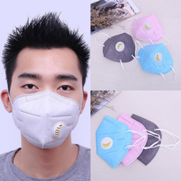 Wholesale Disposable Mouth - Men Women PM2.5 Mouth Mask Breath Valve Anti Haze Disposable Mask Anti Dust Mouth-muffle Respirator Face masks