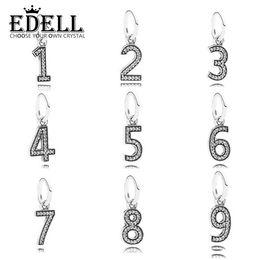 Wholesale Millefiori Pendant Necklace - EDELL 100%925 Silver Genuine Digital Pendant Necklace Bracelet DIY