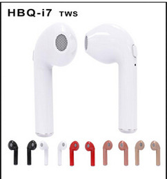 Wholesale Earbuds Iphone Package - HBQ I7 TWS Twins Mini Bluetooth Earbuds Wireless Invisible Headphones Headset with Mic Stereo V4.1 Earphone for Iphone Android with Package