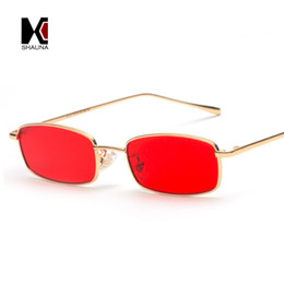 80df102081 SHAUNA Fashion Women Rectangle Sunglasses Retro Metal Frame Men Clear  Yellow Lens Shades UV400