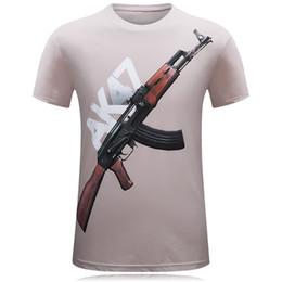 2018 nouvelle mode marée t-shirt pour hommes mens été 3d original manches courtes hommes t-shirt élégant imprimé AK47 t-shirt occasionnels hommes top tees ? partir de fabricateur