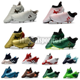 Wholesale Crampons Shoe Spikes - 2018 free shipping new best quality ace 17 purecontrol FG ace 17.1 Crampons de football boots mens high top ankle soccer shoes cleats sale