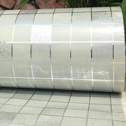 Carreaux de parement en plastique en Ligne-Stickers muraux salle de bains PVC mosaïque papier peint cuisine imperméable carrelage autocollants en plastique vinyle auto-adhésif papiers peints décor à la maison