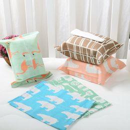 2019 sac en tissu LIRUIKA Belle Bande Dessinée Créative Papier Étanche Papier Serviette Sac Non Tissé Tissu Serviette Ensemble Tissu Tissue Box Ensembles promotion sac en tissu