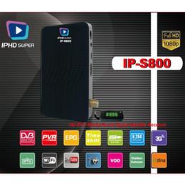 Wholesale wholesale satellite receivers - Iptv Set Top Box IPHD super Linux System stalker Streaming box 2GB ram Media Player DVB s2 satellite receiver faster mag 250 254