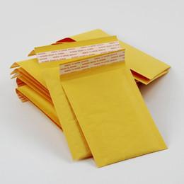 Canada HOT Date 3.9 * 7.8 pouces 100 * 200mm + 40mm Kraft Bulles Mailers Enveloppes Enveloppes Sacs Rembourré Enveloppe Mail Poche D'emballage Livraison Gratuite cheap mailer bags padding Offre