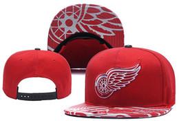 детройтская хоккейная команда Скидка Новые Шапки Детройт Red Wings Хоккей Snapback Шляпы Красный Цвет Cap Team Шляпы Mix Матч Заказать Все Шапки Высокое Качество Шляпа