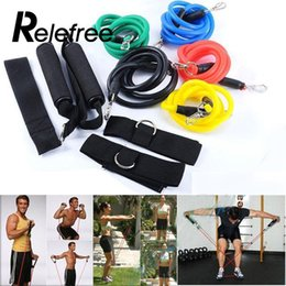 Wholesale Fitness Bands Workout - Relefree 11Pcs   Set Resistance Bands Set for Fitness Yoga Pilates Multifunctional Abs Workout Crossfit