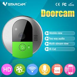 ip phone recorder Скидка 720P Беспроводной дверной звонок HD WiFi IP-камера двери поддержка SD-карты видео-телефон двери рекордер удаленный снимок по телефону