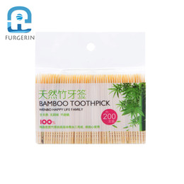 box toothpicks Promo Codes - FURGERIN Disposable Toothpick Box Wooden Toothpicks Decorative bamboo toothpick party toothpicks Tooth Pick Finger