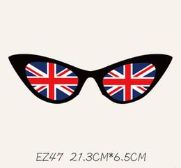 frauen england flagge Rabatt Gase Druck DIY Aufkleber für T-Shirts und Hoodies Männer Frauen Paare Patches Bügelbilder Patches für Kleidung England amerikanische Flagge