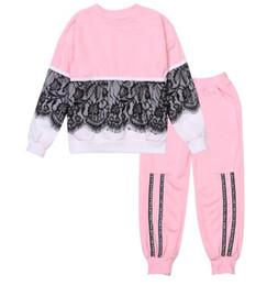 e249cf98e1 2018 New Fashion Children Clothing Set Girls Clothes t shirt+Pants 2pcs set  Kids Tracksuit Spring Autumn Sport Suit