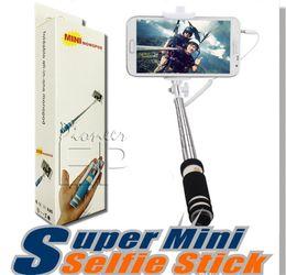 monopod 1288 Rabatt NEUE faltbare Super Mini Wired Selfie Stick Handheld Erweiterbar Einbeinstativ verkabelt Shutter Handle Kompatibel mit Handy