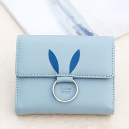Wholesale One Year Boy - girls small coin purse female short leather wallet women credit card case laides mini purse organizer girl gift new year 2018