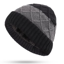 5adbc5bf481 korean hats for men Promo Codes - Hats For Men Beanies Knitted Bone Solid  Color Cap