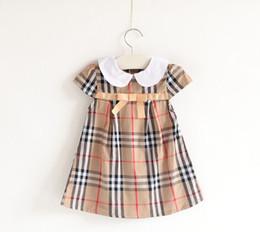 Yaz Kız Elbise Prenses Elbise Kız Elbise ekose Parti Kız Elbise 3-7 T Çocuk Giysileri Için nereden tutu girls naylon şifon tedarikçiler