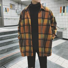 материал воротниковой рубашки Скидка 2018 Мода осень одежда новый шаблон шерстяной материал с длинным рукавом мужская рубашка повседневная хлопок уличная camisa hombre топы H1010