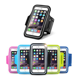 Wholesale running arm - 5.5inch Armband For iPhone 8 7 6 6s Plus Running Sport Bag Arm Band Pouch Cases bag for Mobile phone